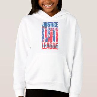 Ligue de justice art bleu et rouge de   de groupe
