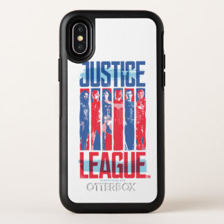 Ligue de justice art bleu et rouge de | de groupe