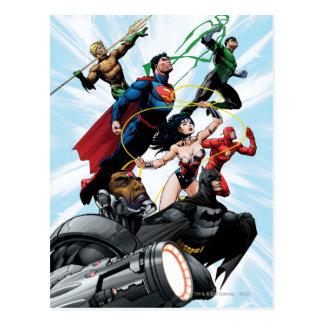 Ligue de justice - groupe 1 cartes postales