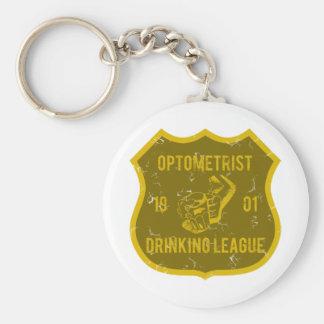 Ligue potable d'optométriste porte-clé rond