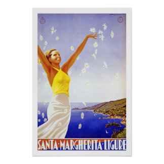 ligure vintage de margherita de père Noël Posters