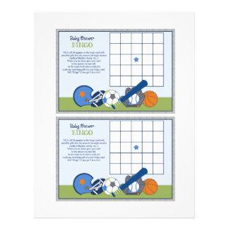 """Lil folâtre la feuille de """"bingo-test de baby prospectus 21,6 cm x 24,94 cm"""