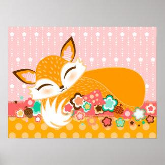 Lil Foxie CUB - affiche mignonne de mur de Fox
