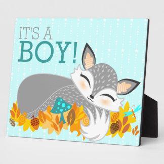 Lil Foxie CUB - c est un garçon Signe de baby Plaques D'affichage