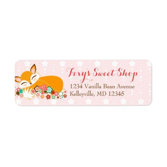 Lil Foxie CUB - étiquettes de adresse de retour