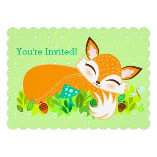 Lil Foxie CUB - invitations mignonnes de coutume d