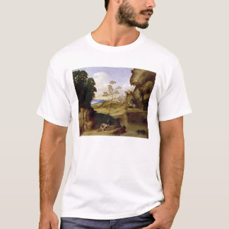L'IL Tramonto (le coucher du soleil) (huile sur la T-shirt