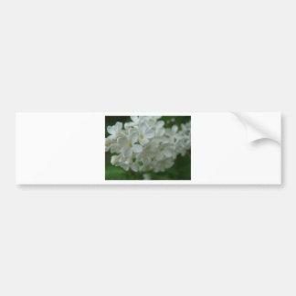 Lilas blanc autocollant de voiture