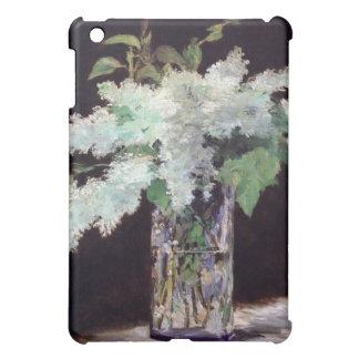 Lilas Blancs Dans Un Vase de Verre Coques iPad Mini