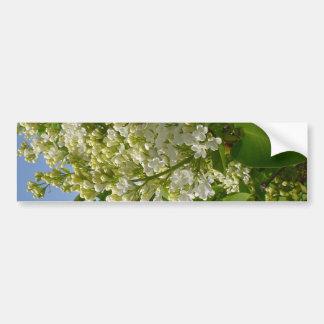 Lilas blancs en fleur autocollant pour voiture