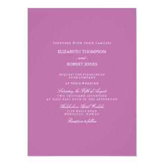 Lilas Bodacious d'orchidée avec le détail blanc de Carton D'invitation 13,97 Cm X 19,05 Cm