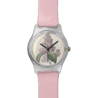 Lilas botanique vintage par Redoute - montre de Ma Montres Cadran