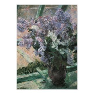 Lilas dans une fenêtre, Cassatt, impressionisme Faire-part Personnalisés