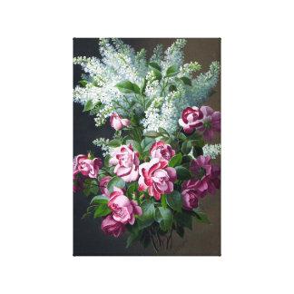 Lilas de rose et blancs pourpres vintages toiles