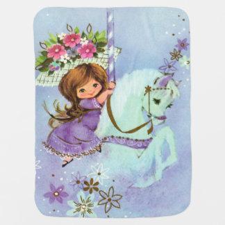 Lilas doux de couverture de bébé de poney de