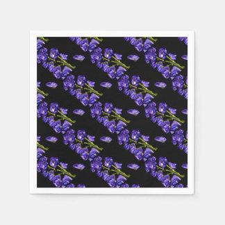 Lilas floraisons foncés serviettes en papier