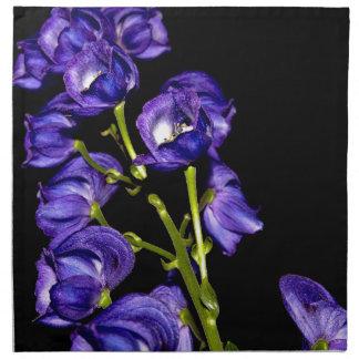Lilas floraisons foncés serviettes imprimées
