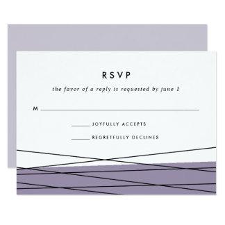 Lilas gris de la carte | de la linéation RSVP Carton D'invitation 8,89 Cm X 12,70 Cm