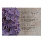 Lilas rustiques épousant des invitations