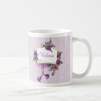 Lilas vintages personnalisés mug