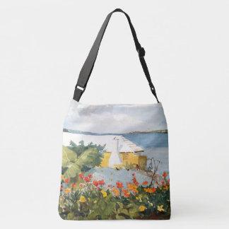 L'île de Bermudes fleurit le sac fourre-tout à