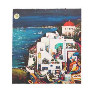L'île grecque rêve le carnet blocs notes