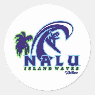 L'île NALU01 ondule le produit Sticker Rond