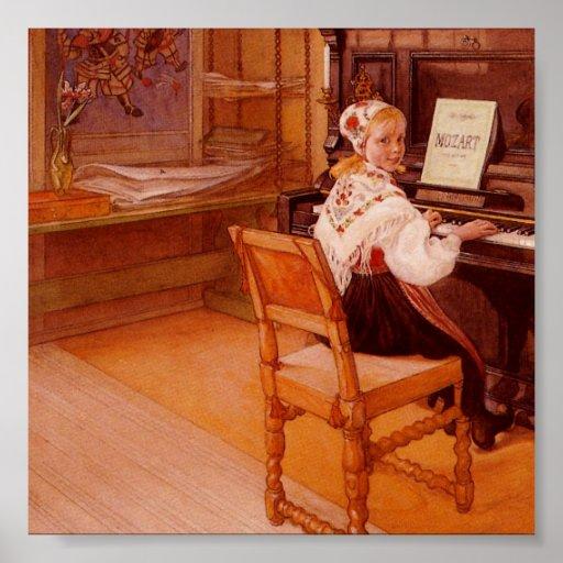 Lillanna jouant Mozart Posters