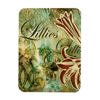 Lillies Magnet Rectangulaire Avec Photo