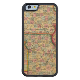 L'Illinois, le Missouri, l'Iowa, le Nébraska et le Coque iPhone 6 Bumper En Érable