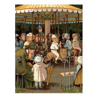 L'illustration de cru de carrousel carte postale