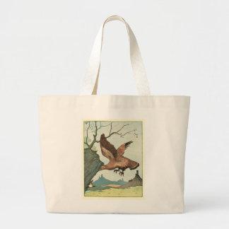 L'illustration de livre d'histoire d'Eagle d'or Sac En Toile Jumbo