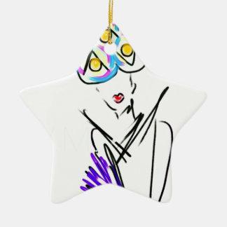L'illustration de mode de visiteur ornement étoile en céramique