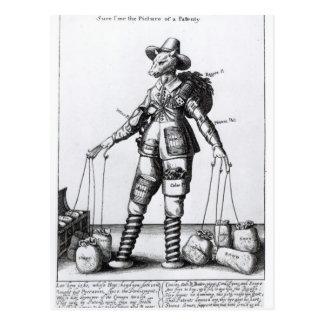 L'image de Pattenty', c.1641-50 Carte Postale