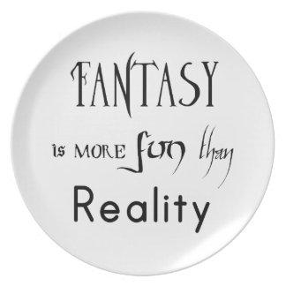 L'imaginaire est plus d'amusement que la réalité assiette
