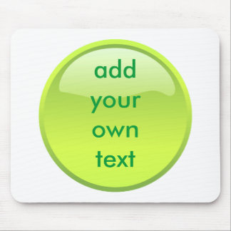 lime green button mouse pad