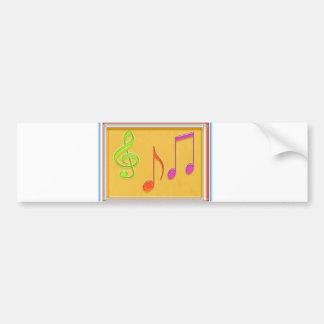 Limite à retentir bonne - symboles de musique de d adhésif pour voiture