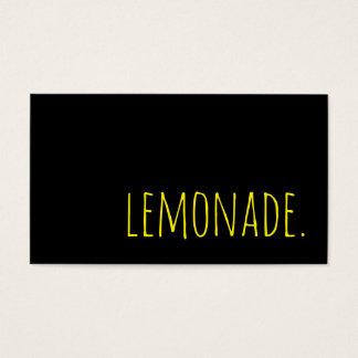 limonade. carte perforée de fidélité