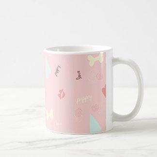Limonade de rose d'amour de chiot tasses