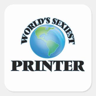 L'imprimante la plus sexy du monde sticker carré