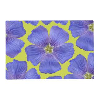 Lin bleu #1 set de table stratifié
