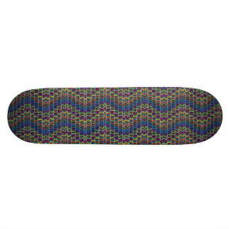 Lin géométrique ornemental décoratif abstrait skateboards cutomisables