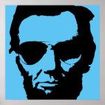 Lincoln avec des lunettes de soleil d'aviateur affiche