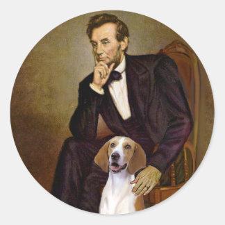 Lincoln - fox-hound américain autocollant rond