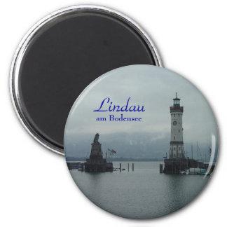 Lindau, Lindau, AM Bodensee Magnet Rond 8 Cm