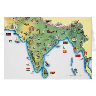 L'Inde, carte avec la représentation