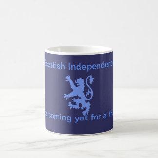 L'indépendance écossaise effrénée de lion brûle la mug