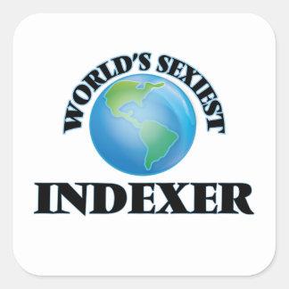 L'indexeur le plus sexy du monde autocollant carré