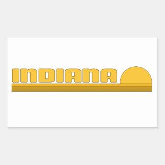 L'Indiana Autocollant Rectangulaire