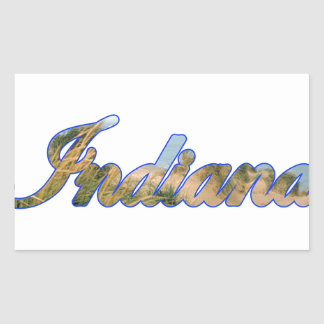L'Indiana Stickers Rectangulaires